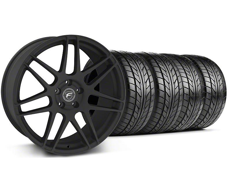 Forgestar F14 Monoblock Textured Black Wheel & NITTO Tire Kit - 18x9 (99-04 All)