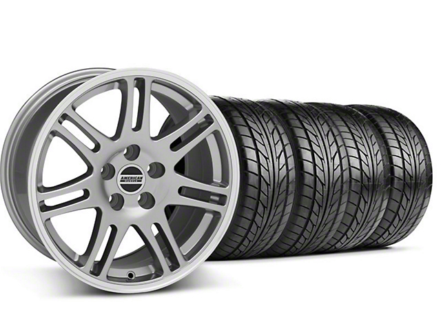 10th Anniversary Cobra Style Anthracite Wheel & NITTO Tire Kit - 18x9 (99-04 All)