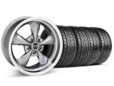 Deep Dish Bullitt Anthracite Wheel & NITTO Tire Kit - 18x9 (99-04 All)