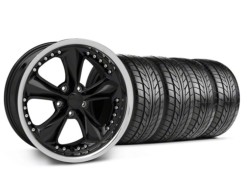 Foose Nitrous Black Wheel & NITTO Tire Kit - 18x9 (99-04 All)