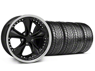 Foose Nitrous Black Wheel & NITTO Tire Kit - 18x9 (99-04 All)