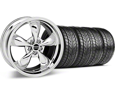 Bullitt Chrome Wheel & NITTO Tire Kit - 18x9 (99-04 All)