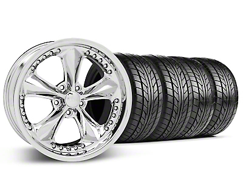 Foose Nitrous Chrome Wheel & NITTO Tire Kit - 18x9 (99-04 All)