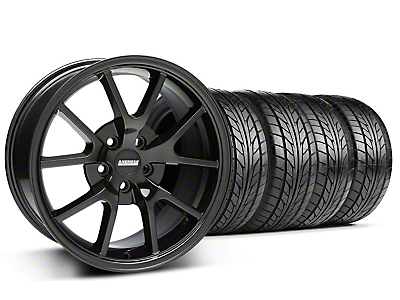 FR500 Style Gloss Black Wheel & NITTO Tire Kit - 18x9 (99-04 All)