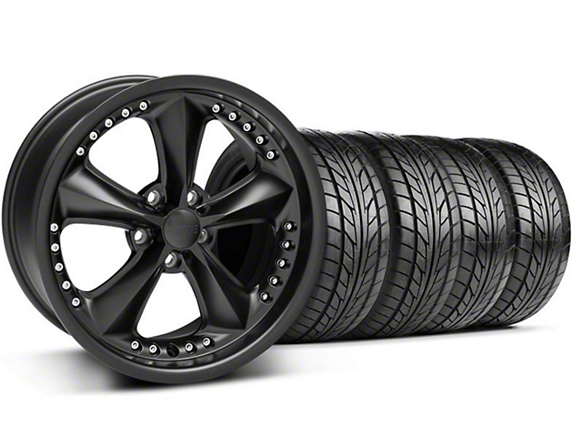 Foose Nitrous Matte Black Wheel & NITTO Tire Kit - 18x9 (99-04 All)