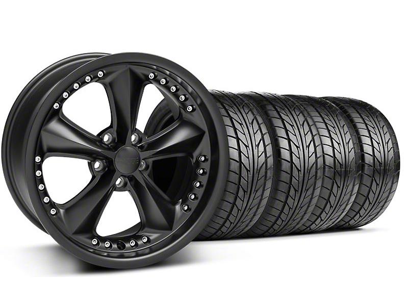 Foose Nitrous Matte Black Wheel & NITTO Tire Kit - 18x9 (99-04 All)