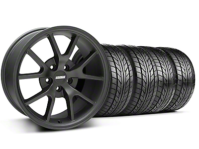 FR500 Matte Black Wheel & NITTO Tire Kit - 18x9 (99-04 All)