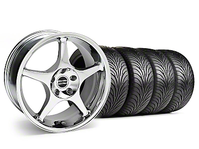 2000 Cobra R Chrome Wheel & Sumitomo Tire Kit - 18x9 (99-04 All)