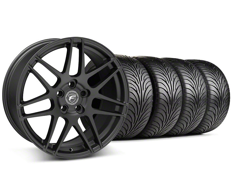 Forgestar F14 Monoblock Textured Black Wheel & Sumitomo Tire Kit - 18x9 (99-04 All)