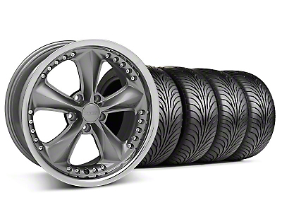 Foose Nitrous Gray Wheel & Sumitomo Tire Kit - 18x9 (99-04 All)