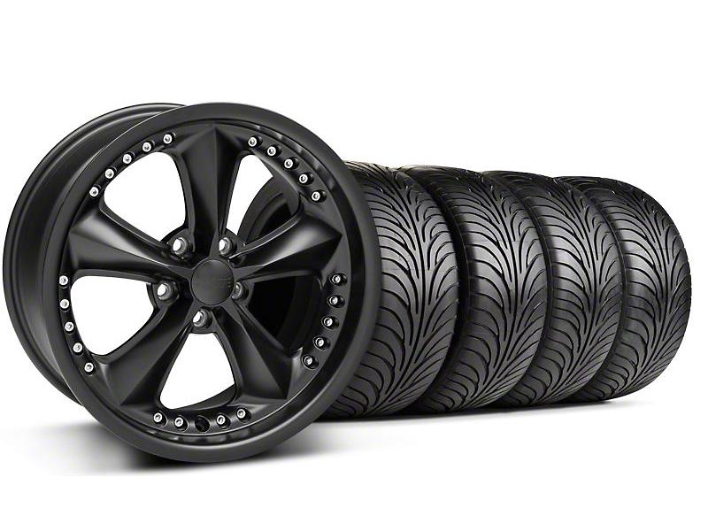 Foose Nitrous Matte Black Wheel & Sumitomo Tire Kit - 18x9 (99-04 All)
