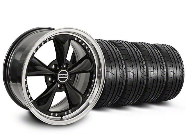 Bullitt Motorsport Black Wheel & Mickey Thompson Tire Kit - 18x9 (05-14 GT, V6)