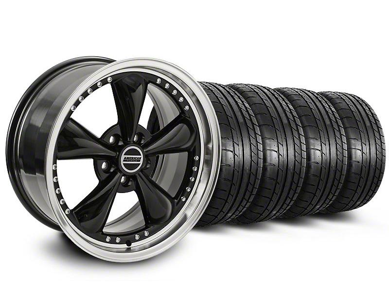 Bullitt Motorsport Black Wheel & Mickey Thompson Tire Kit - 18x9 (05-14 GT, V6)