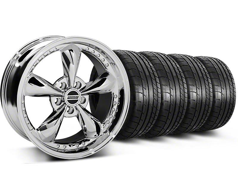 Bullitt Motorsport Chrome Wheel & Mickey Thompson Tire Kit - 18x9 (05-14 GT, V6)
