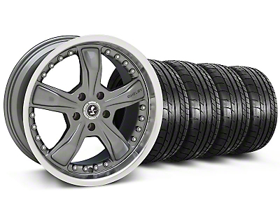Shelby Razor Gunmetal Wheel & Mickey Thompson Tire Kit - 18x9 (05-14)