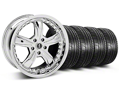 Shelby Razor Chrome Wheel & Mickey Thompson Tire Kit - 18x9 (05-14)