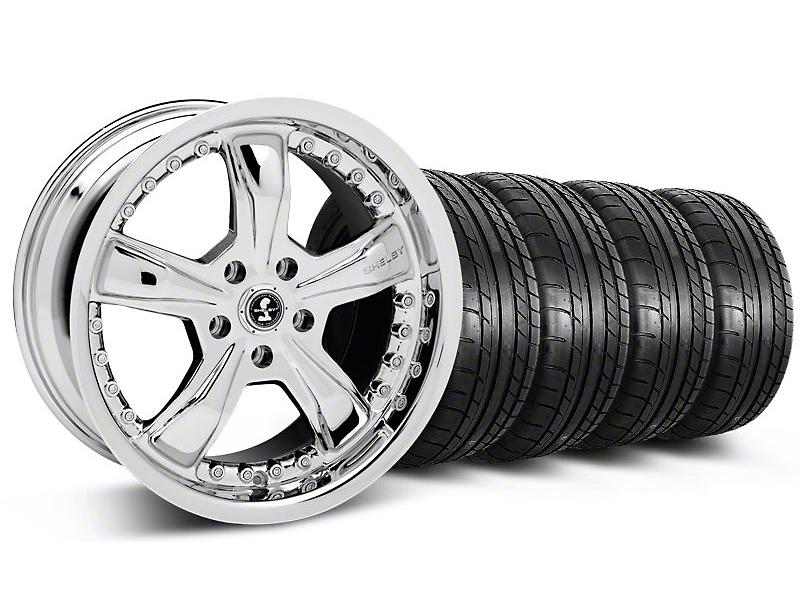 Shelby Razor Chrome Wheel & Mickey Thompson Tire Kit - 18x9 (05-14)