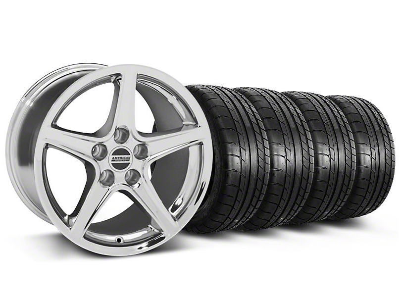 Saleen Style Chrome Wheel & Mickey Thompson Tire Kit - 18x9 (05-14 GT, V6)