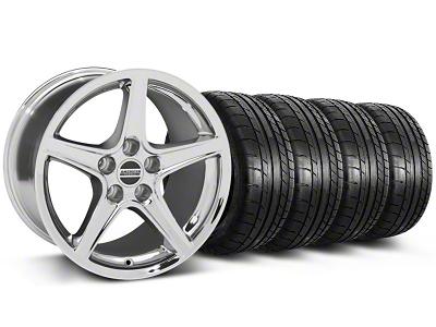 Saleen Style Chrome Wheel & Mickey Thompson Tire Kit - 18x9 (05-14 GT, V6)