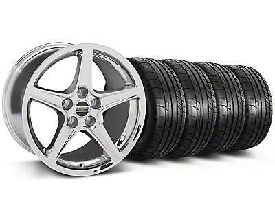 Saleen Chrome Wheel & Mickey Thompson Tire Kit - 18x9 (05-14 GT, V6)