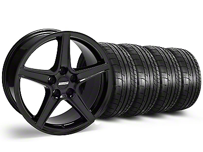 S Style Black Wheel & Mickey Thompson Tire Kit - 18x9 (05-14 GT, V6)