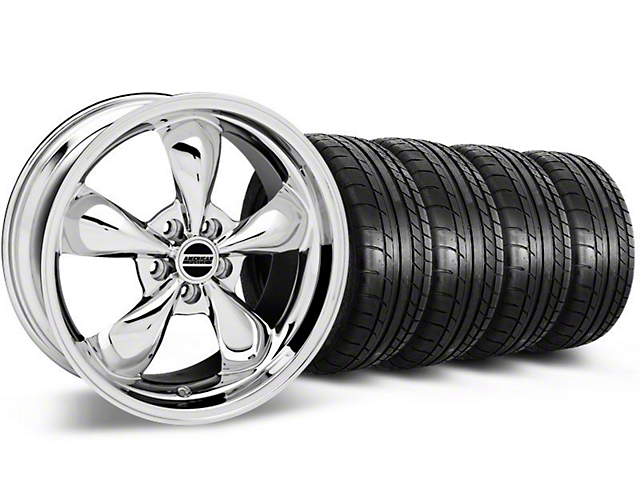 Bullitt Chrome Wheel & Mickey Thompson Tire Kit - 18x9 (05-10 GT; 05-14 V6)
