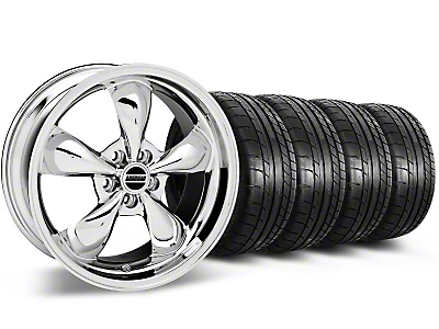 Bullitt Chrome Wheel & Mickey Thompson Tire Kit - 18x9 (05-14 GT, V6)