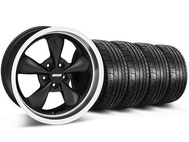 Bullitt Deep Dish Matte Black Wheel & Mickey Thompson Tire Kit - 18x9 (05-14 GT, V6)