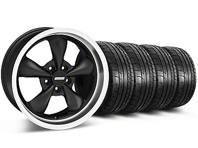 Bullitt Deep Dish Matte Black Wheel & Mickey Thompson Tire Kit - 18x9 (05-10 GT; 05-14 V6)