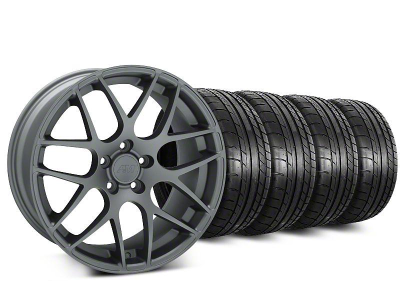 AMR Charcoal Wheel & Mickey Thompson Tire Kit - 18x9 (05-14 All)