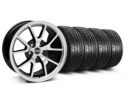 FR500 Style Black Machined Wheel & Mickey Thompson Tire Kit - 18x9 (05-14)