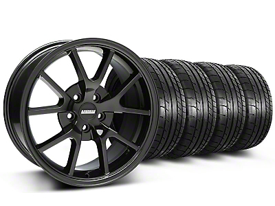 FR500 Style Gloss Black Wheel & Mickey Thompson Tire Kit - 18x9 (05-14)
