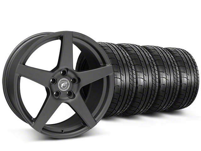 Forgestar CF5 Monoblock Matte Black Wheel & Mickey Thompson Tire Kit - 18x9 (05-14 All)