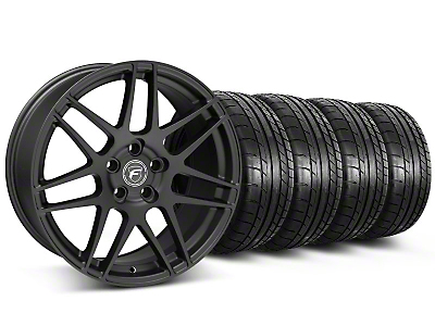 Forgestar F14 Monoblock Matte Black Wheel & Mickey Thompson Tire Kit - 18x9 (05-14 All)