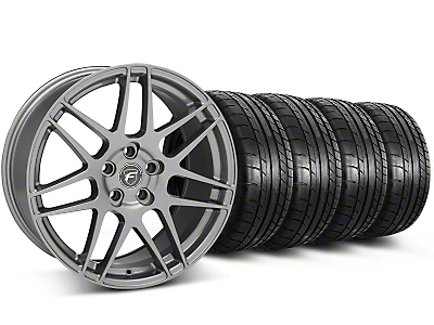 Forgestar F14 Monoblock Gunmetal Wheel & Mickey Thompson Tire Kit - 18x9 (05-14 All)