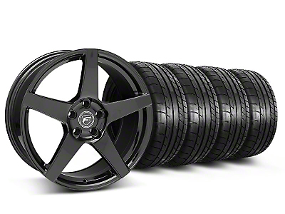 Forgestar CF5 Monoblock Gloss Black Wheel & Mickey Thompson Tire Kit - 18x9 (05-14 All)