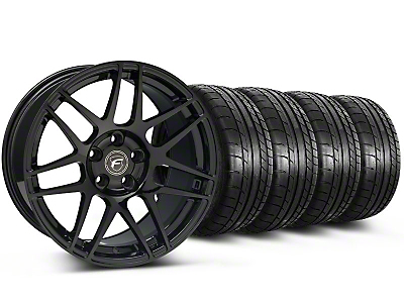 Forgestar F14 Monoblock Gloss Black Wheel & Mickey Thompson Tire Kit - 18x9 (05-14 All)