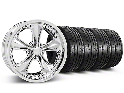 Foose Nitrous Chrome Wheel & Mickey Thompson Tire Kit - 18x9 (05-14)