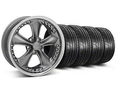 Foose Nitrous Gray Wheel & Mickey Thompson Tire Kit - 18x9 (05-14)