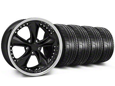 Foose Nitrous Black Wheel & Mickey Thompson Tire Kit - 18x9 (05-14)