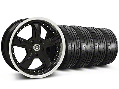 Shelby Razor Black Wheel & Mickey Thompson Tire Kit - 18x9 (05-14)