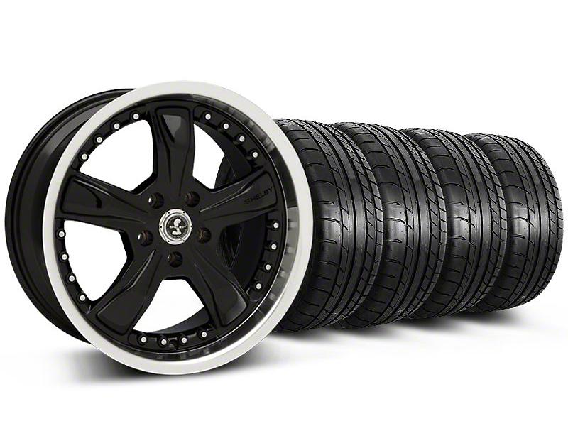 Shelby Razor Black Wheel & Mickey Thompson Tire Kit - 18x9 (05-14)