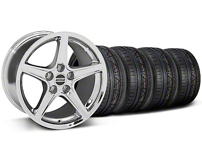 Saleen Chrome Wheel & NITTO INVO Tire Kit - 18x9 (05-14 GT, V6)