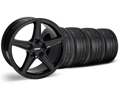 Saleen Style Black Wheel & NITTO INVO Tire Kit - 18x9 (05-14 GT, V6)