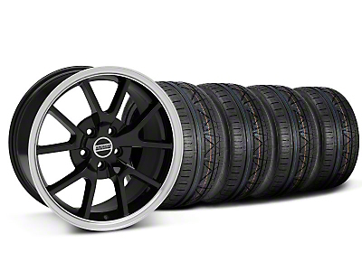 FR500 Style Black Wheel & NITTO INVO Tire Kit - 18x9 (05-14 All)