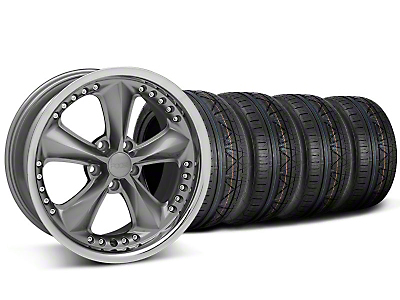 Foose Nitrous Gray Wheel & NITTO INVO Tire Kit - 18x9 (05-14)