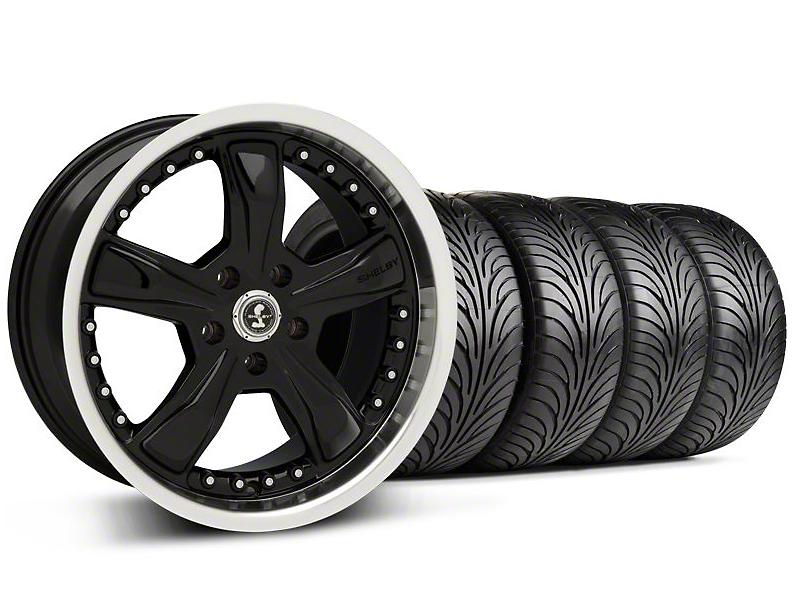 Shelby Razor Black Wheel & Sumitomo Tire Kit - 18x9 (05-14 GT, V6)