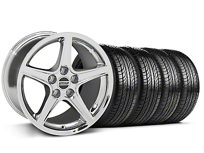Saleen Chrome Wheel & Pirelli Tire Kit - 19x8.5 (05-14 GT, V6)
