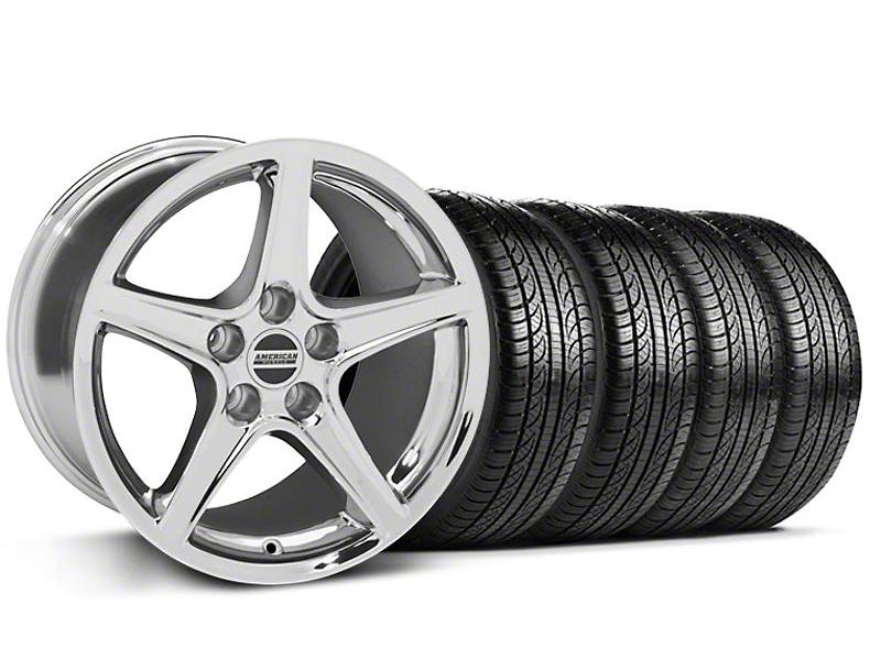 Saleen Style Chrome Wheel & Pirelli Tire Kit - 19x8.5 (05-14 GT, V6)