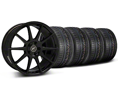 Forgestar CF10 Monoblock Piano Black CF10 Monoblock Wheel & NITTO INVO Tire Kit - 19x9 (05-14 All)